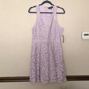 Lulu's Lavender Lace Racerback Dress w/ Cut-Outs